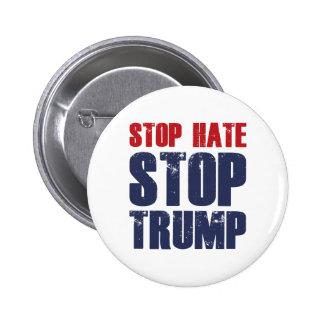 Pare el triunfo de la parada del odio pin redondo de 2 pulgadas