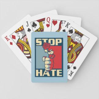¡Pare el truco mágico del odio! Baraja De Cartas