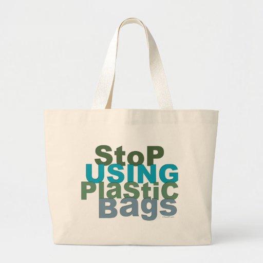 Pare el usar de las bolsas de plástico