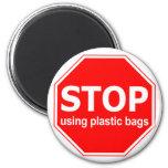 Pare el usar de las bolsas de plástico imán de frigorífico