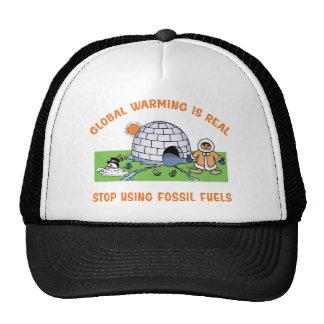 Pare el usar de los combustibles fósiles gorro de camionero