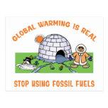 Pare el usar de los combustibles fósiles postal