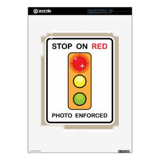 Pare en muestra hecha cumplir foto roja skins para eliPad 2