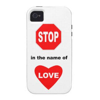 Pare en nombre de amor Case-Mate iPhone 4 fundas
