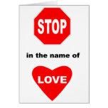Pare en nombre de amor tarjetas