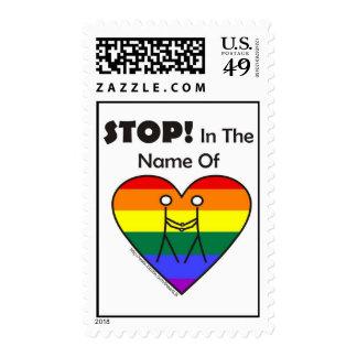 ¡Pare en nombre de sello del amor