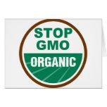 Pare GMO orgánico Tarjetas