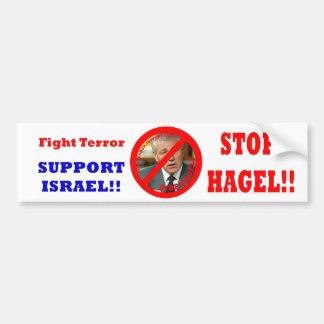 ¡Pare Hagel!! Etiqueta De Parachoque