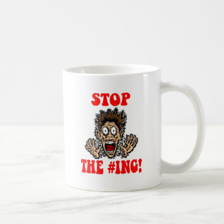 pare hashtagging taza de café