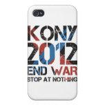 Pare Kony iPhone 4 Cárcasas