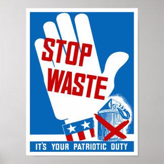 Pare la basura que es su deber patriótico -- WWII Impresiones