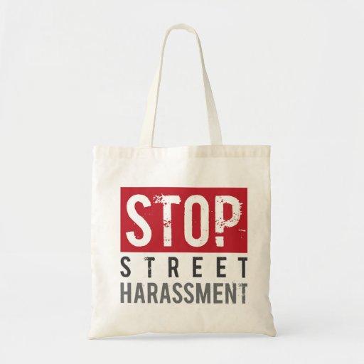 Pare la bolsa de asas del acoso de la calle