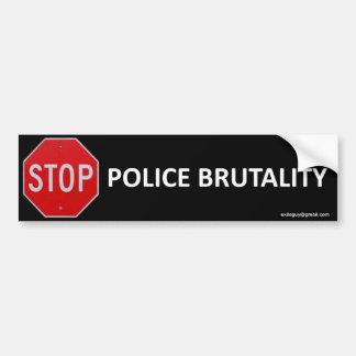 pare la brutalidad policial pegatina para auto