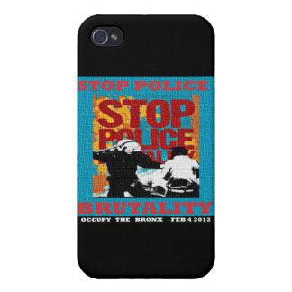 Pare la brutalidad policial, ocupe el aviador 2012 iPhone 4 fundas