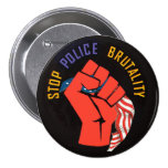 Pare la brutalidad policial pin redondo de 3 pulgadas