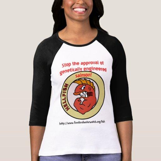 pare la camisa para mujer de los infierno-pescados