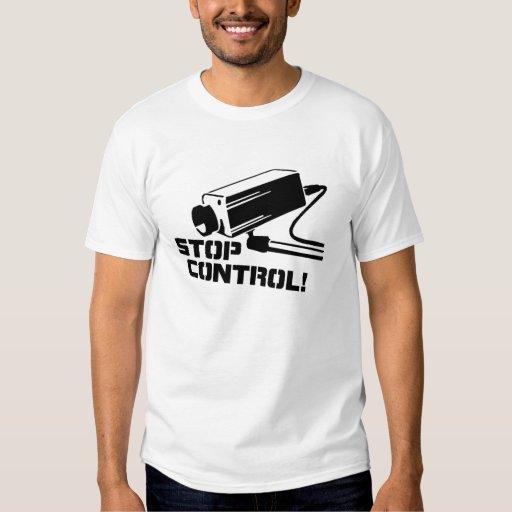 Pare la camiseta de la plantilla del control remera