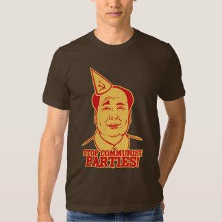 Pare la camiseta de los Partidos Comunistas Playeras