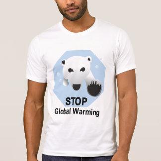 Pare la camiseta del calentamiento del planeta camisas