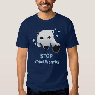 Pare la camiseta del calentamiento del planeta playeras