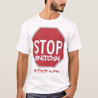 Pare la camiseta del lyin de la parada del