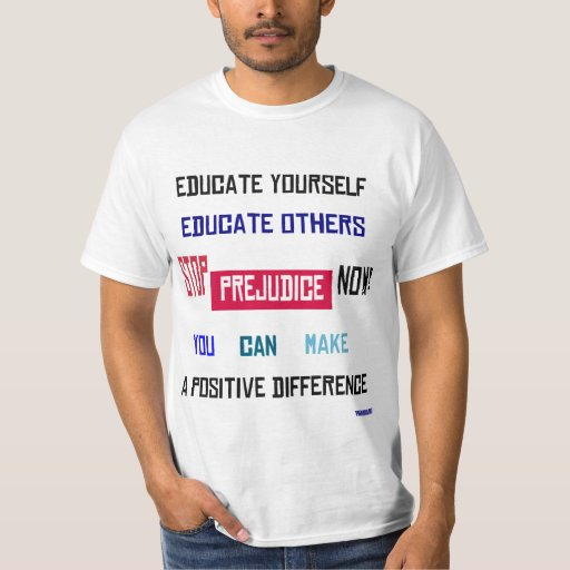 Pare la camiseta del negocio del perjuicio