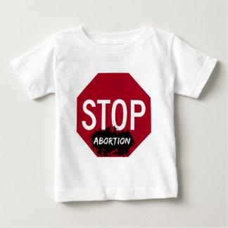 Pare la camiseta del niño del aborto