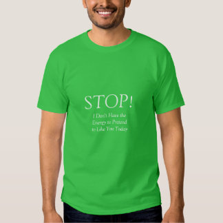 PARE la camiseta II Playeras