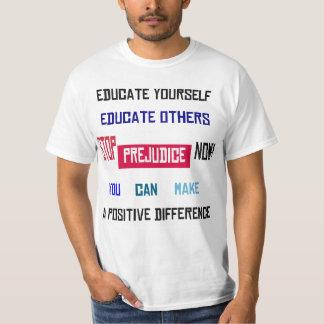 Pare la camiseta ligera calificada perjuicio