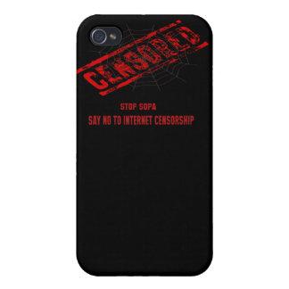 Pare la censura del Internet iPhone 4 Cárcasas