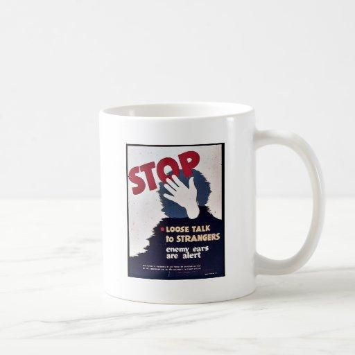 Pare la charla floja taza de café