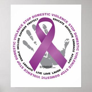 Pare la cinta de la violencia en el hogar póster