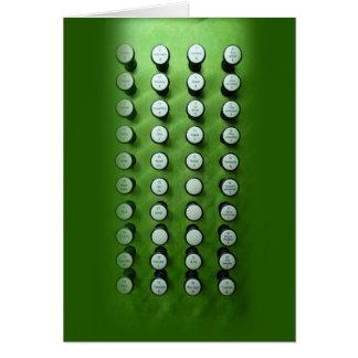 Pare la consola verde de los botones tarjeta de felicitación