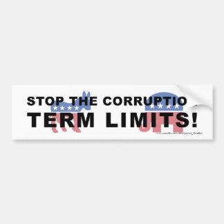 Pare la corrupción, límites de mandato - parachoqu pegatina para auto