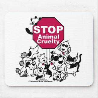 Pare la crueldad animal alfombrilla de raton