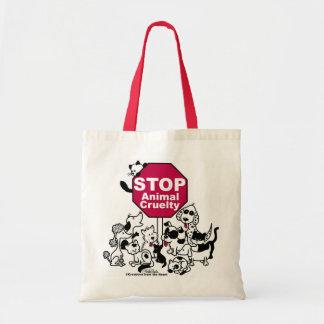 Pare la crueldad animal bolsa de mano