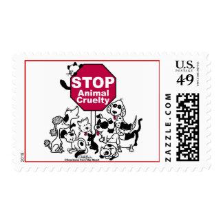 Pare la crueldad animal estampilla