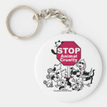 Pare la crueldad animal llavero