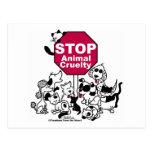 Pare la crueldad animal tarjetas postales