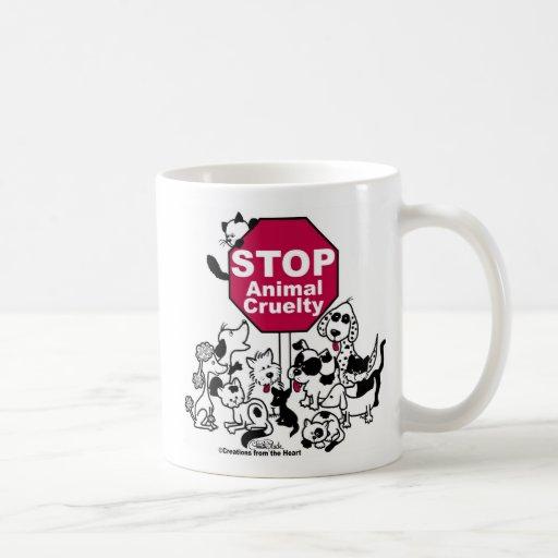 Pare la crueldad animal tazas de café