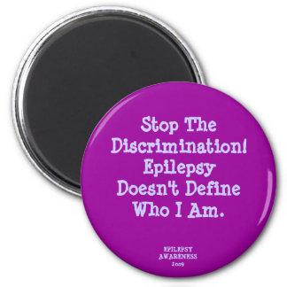 ¡Pare la discriminación! Imán Redondo 5 Cm