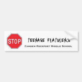 Pare la flatulencia adolescente pegatina para auto