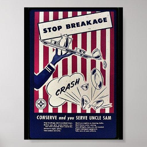 Pare la fractura póster