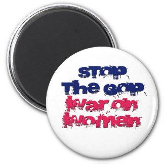 Pare la guerra del GOP en mujeres Imán Redondo 5 Cm