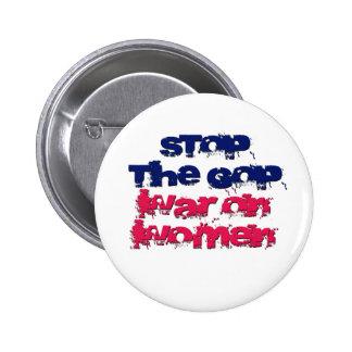 Pare la guerra del GOP en mujeres Pin Redondo De 2 Pulgadas