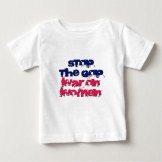 Pare la guerra del GOP en mujeres Playera De Bebé