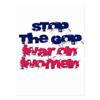 Pare la guerra del GOP en mujeres Tarjetas Postales