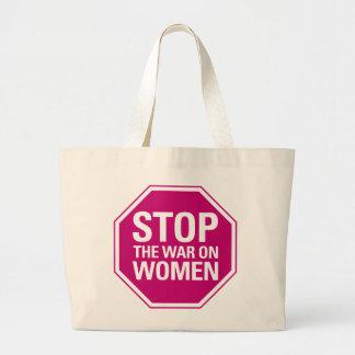 Pare la guerra en bolso de las mujeres bolsa tela grande