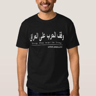 """""""Pare la guerra en camiseta árabe de Iraq"""" Poleras"""