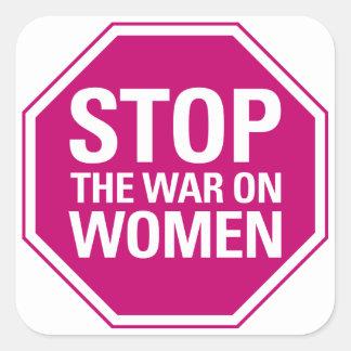 Pare la guerra en el pegatina de las mujeres